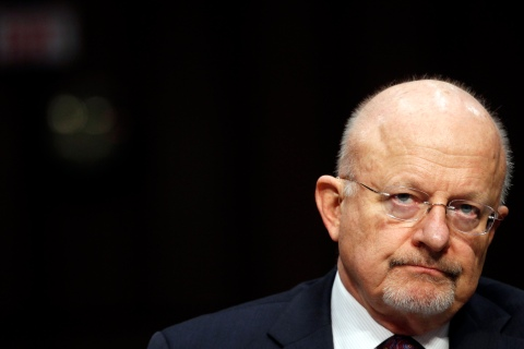 """Director of National Intelligence James Clapper testifies before a Senate (Select) Intelligence hearing on """"World Wide Threats"""" on Capitol Hill in Washington, D.C., on Jan. 31, 2012."""