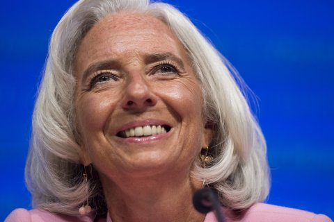 Christine Lagarde speaks during a press conference at IMF Headquarters during the annual World Bank - International Monetary Fund (IMF) meetings in Washington, D.C., on Oct. 10, 2013.