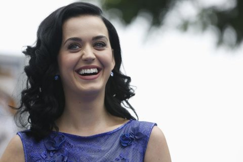 """Katy Perry at the premiere of """"The Smurfs 2"""" at the Regency Village theatre in Los Angeles, on July 28, 2013."""