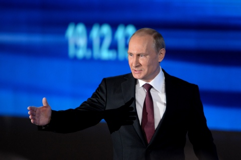 Russia's President Vladimir Putin during his annual press conference in Moscow on Dec. 19, 2013.